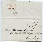 Rare 1829 Cover From Lerwick To Edinburgh With Ship Letter/peterhead Cachet