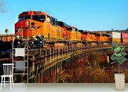 3d Freight Train S263 Transport Wallpaper Mural Self-adhesive Removable Sunday