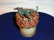 Jeweled Jay Strongwater Enamel Dragonfly Candle Holder Votive Crystals
