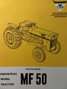 Massey Ferguson Mf 50 Diesel Gasoline Farm Agricultural Tractor Parts Manual 69and039