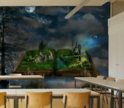 3d Book Mountain S71 Business Wallpaper Wall Mural Self-adhesive Commerce Zoe