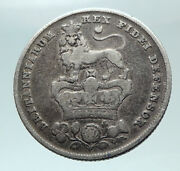 1826 Uk Great Britain United Kingdom King George Iv Silver Shilling Coin I82146