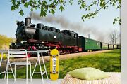 3d Driving Train T160 Transport Wallpaper Mural Self-adhesive Removable Sunday