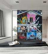 3d Doll House Cute T435 Transport Wallpaper Mural Self-adhesive Removable Sunday