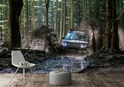 3d Off-road Forest T181 Transport Wallpaper Mural Self-adhesive Removable Sunday