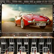 3d Antique Red T006 Transport Wallpaper Mural Self-adhesive Removable Sunday