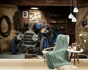 3d Antique Car T330 Transport Wallpaper Mural Self-adhesive Removable Sunday