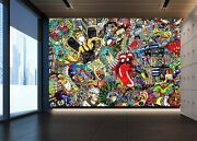 3d Monster Tongue T57 Business Wallpaper Wall Mural Self-adhesive Commerce Zoe