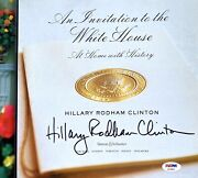 Hillary Clinton Signed Welcome To The White House Book America Psa/dna Rare