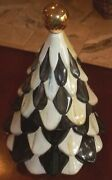 Mackenzie Childs Christmas Tree Cookie Jar In Courtly Check Small Tannenbaum