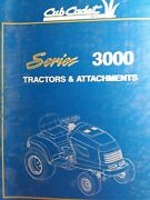 Cub Cadet Lawn Garden Tractor Implement Attachments Parts Manual Mtd Series 3000