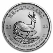 2021 South Africa 1 Oz 999 Fine Silver Krugerrand Brilliant Unc. - In Stock