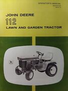 John Deere 112 Lawn Garden Tractor 1969 Owner And Parts 2 Manual S Sn 250,001-up