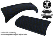 Blue Diamond Stitch 2x Padded Top Dash Trim Leather Covers For Defender 07-16