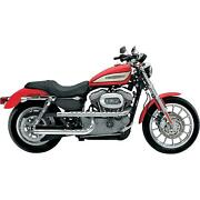Exhaust Sportster Xl 04-13 Supertrapp Chrome 3-shield X Drag Pipes Paul Yaffe Hb