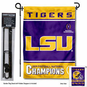 Lsu Tigers College Football National Champions Garden Flag Stand Pole