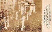 1919 Rppc Parade Celebration 23rd St. And 5th Ave. Victory Arch Manhattan Ny