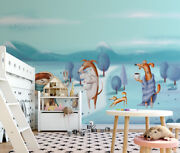 3d Cartoon Dogs Cute S492 Wallpaper Mural Self-adhesive Removable Sticker Sunday