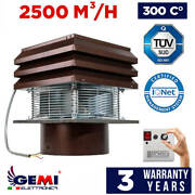 Gemi Basic Chimney Exhaust Fan For Fireplace For Round Flue 30 Cm/12 110 Volts