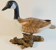 Fine Vintage Carved And Painted Wood Duck Sculpture Or Decoy