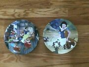 Disney Snow White Collector Plates Set Of 2, Knowles China Mint