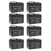 8x 12v 110ah Sealed Lead Acid Agm Battery Group 30h Replaces Ub121000