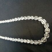 Vintage Hand Strung Faceted Crystal Bead Necklace 40 Cm