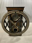 Antique C1900andrsquos International Recording Co. Solid Oak Punch Clock Made In Usa