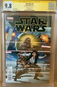 Han Solo Cgc 9.8 Signed Harrison Ford Star Wars 4 Marvel Comic Signature Series