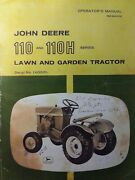 John Deere 110 Tractor, Mower And Snow Thrower Owner And Parts 3 Manual S 1963-1967