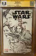 Han Solo 9 Cgc 9.8 Signed By Harrison Ford Star Wars Signature Series Comic