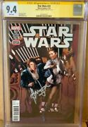 Han Solo 23 Cgc 9.4 Signed By Harrison Ford Star Wars Signature Series Comic