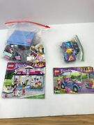Lego Friends 41007 Heartlake Pet Salon And Stephanies Convertible 3183 Complete