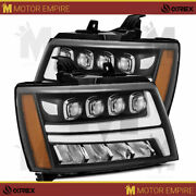 Alpharex Black Projector Headlights For 2007-14 Chevy Tahoe Surburban Avalanche