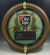 Heilemanand039s Old Style Beer Clock Lighted Advertising Sign Working Vg Condition