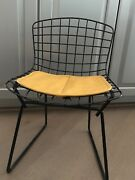 Vintage Harry Bertoia For Knoll Child's Chair, Black With Yellow Seat