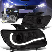 Smoked Clear Projector Headlight Lamp+slim Led Hid Kit For 15-20 Chevy Colorado