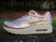 Ds Wmns Nike Air Max 1 Bronze Cut Out Sz 5 Or 6 Flyknit Racer Master Og Multi