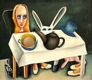 Charles Blackman Feet Beneath The Table Signed Limited Edition 66cm X 76cm