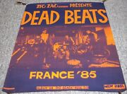Dead Beats Rare 1985 French Tour Poster Also Promotes The Album On Tar Beach