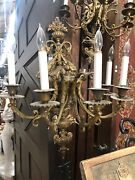 Rococo Style Louis Xv Sconces Five Candle 24x20