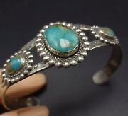 Vintage Bell Trading Post Sterling Silver Turquoise Southwestern Cuff Bracelet