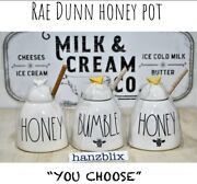 Rae Dunn Honey Pot Honey Bumble Yellow Bee 🐝 Wood Stick Andldquou Choose New And03919-20and039