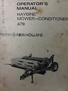 New Holland Sperry Haybine Hay Mower Conditioner 479 Implement Owners Manual