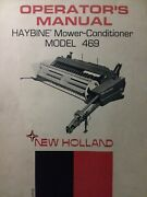 New Holland Sperry Haybine Hay Mower Conditioner 469 Implement Owners Manual