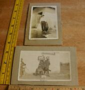 1920s Fisk Tires Bicycle Country Store Bike Shop Photo 3.5x5.5 Mounted Cowboy