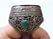 Antique Sassanian Persian Carnelian And Turquoise Silver Ring