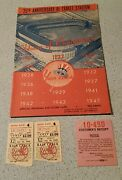 7/16/48 Ny Yankees Vs St Louis Browns Ticket And Parking Stubs And Program Mint