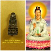 Antique Rare Top Amulet Of Thailand Of Asia Guanyin Buddha Statue Pendant 11