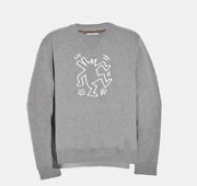 Nwt Coach X Keith Haring Dancing Dog Sweatshirt Mens Sz Small Grey 80and039s Soldout